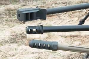 Дульные тормозы винтовок: Armalite AR-50A1, Bushmaster BA50, McMillan TAC-50 A1