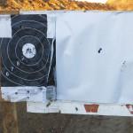 Кучность Bushmaster BA50 по трем выстрелам на дистанции 100 м