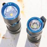 Хорошо видна разница в оптике между S10R BatonII (рефлектор) и S1 Baton (TIR-линза)