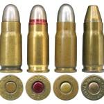 Коммерческие патроны 7,65 Luger довоенного производства: 1, 2 — немецкие (Gustav Genschow &Co, или Geco); 3— бельгийские (Fabrique Nationale); 4 — итальянские (Giulio Fiocchi Lecco)