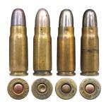 7,63-мм «маузеры» разных стран: 1 — американского производства (Winchester Repeating Arms Company); 2— швейцарские (Patronen Fabrik Solothurn); 3-4— французские (Société Française de Munitions)