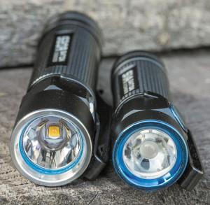 Классический рефлектор (слева) и TIR-линза (справа)