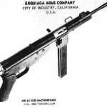Одно из немногих известных изображений пистолета-пулемета RM-64 Хуана Эркиаги