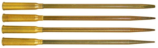 Образцы ерийных боевых (СПС) и учебного (СПСУ) патронов. Лак-герметизатор применялся как белого, так и черного цвета