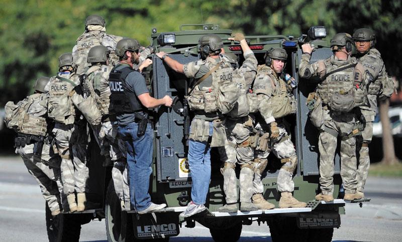 Тренировка спецназа департамента шерифа округа Сан-Бернардино (штат Калифорния, США)