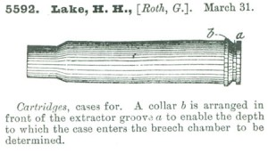 Фрагмент заявки на патент гильзы с донным упором G. Roth