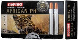 Патроны .375 Holland & Holland Magnum Belted фирмы Norma серии African PH для охоты на «большую африканскую пятерку»