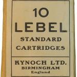 Упаковка от коммерческих патронов 8x50R Lebel, изготовленных английской компанией Kynoch Ltd.
