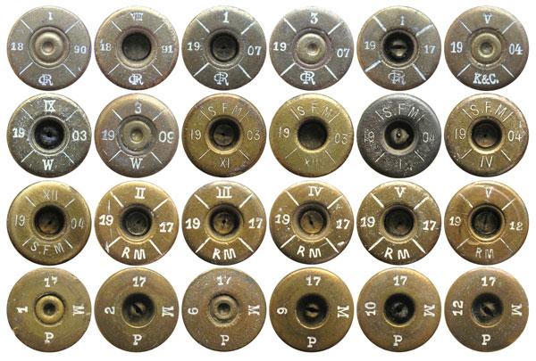 Многие европейские производители поставляли в Болгарию компоненты боеприпасов и готовые патроны 8х50R Mannlicher: Австро-Венгрия (код GR, K&C, W), Франция (код SFM), Германия (код RM и PM)