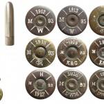 Общий вид патрона, пули и варианты маркировок на патронах 6,5х54R Mannlicher, изготовленных в Австро-Венгрии и Германии по заказу Румынии