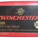 Пластмассовая коробка на 50 патронов .17 HMR производства компании Winchester, г. Ист Альтон, США