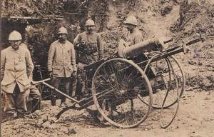 Опытный немецкий крупнокалиберный пулемет, захваченный союзниками (ПМВ)