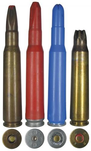 Холостые патроны .50 BMG, изготовленные в Бельгии, Норвегии, Австрии, США