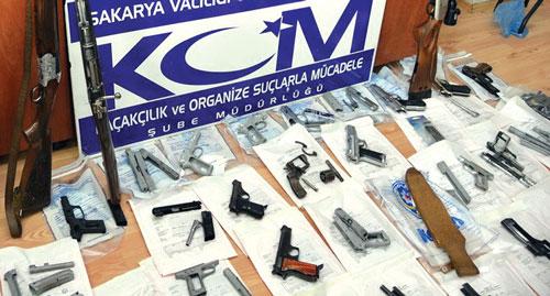 Турция, Сакарья, 2014 г.: ликвидация нелегальной оружейной мастерской, изъято 43 единицы различного оружия