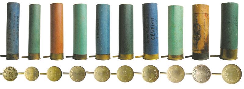 Шпилечные патроны с бумажной гильзой широко применялись для гладкоствольного оружия
