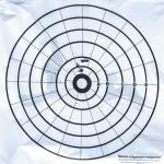 Пристрелка ружья по 100-дольной мишени