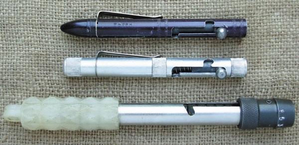 Приспособления раннего и позднего образцов, одна из моделей «Сигнала охотника»