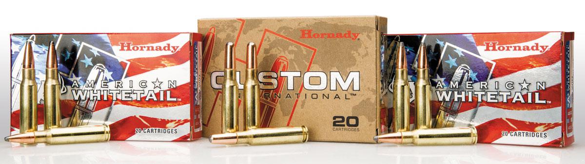 Полуоболочечными пулями InterLock компания Hornady снаряжает две линейки своих винтовочных патронов — народные American Whitetail и экспортные Custom International