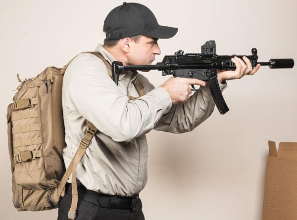 рюкзак First Tactical Specialist удобен в ношении и не мешает при активных действиях