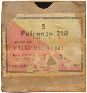 Картонная коробка на пять патронов Р318