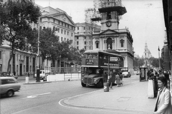Автобусная остановка, где было совершено покушение на Георгия Маркова