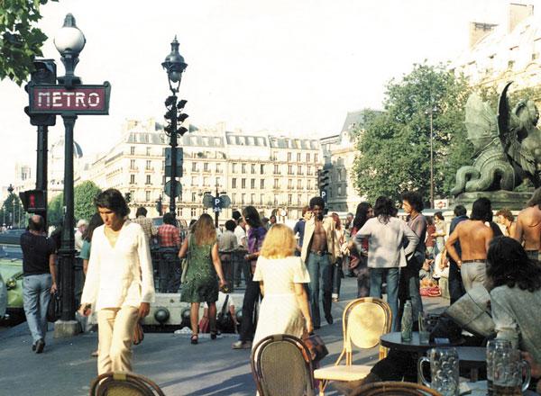 Париж, выход из метро (1970-е)