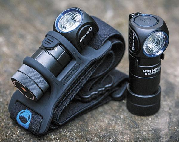 Olight H1R Nova можно использовать и как налобный фонарь, и как ручной