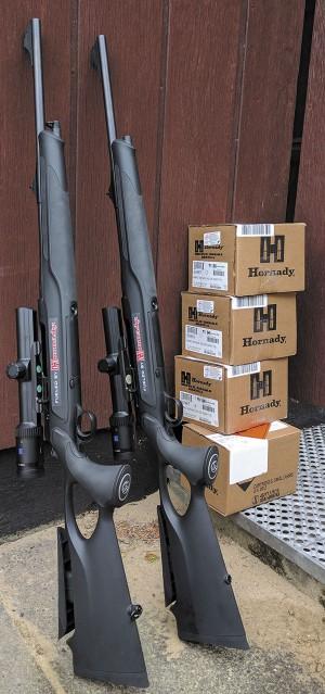 Полуавтоматы Sauer S 303, «загонники» Zeiss и патроны Hornady — отличное сочетание для успешной стрельбы по мишени «Бегущий кабан»