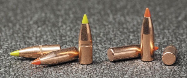 Пули .224-го калибра Hornady V-Max 60 гран и Z-Max 55 гран не имеют «боаттэйлов»— дистанции отстрела животных-вредителей и полчищ зомби обычно невелики