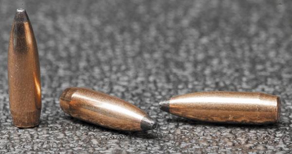 Коническая корма охотничьей пули .224-го калибра Sierra GameKing 65 гран улучшает ее БК, позволяя доносить до цели больше энергии— что, в свою очередь, повышает убойность