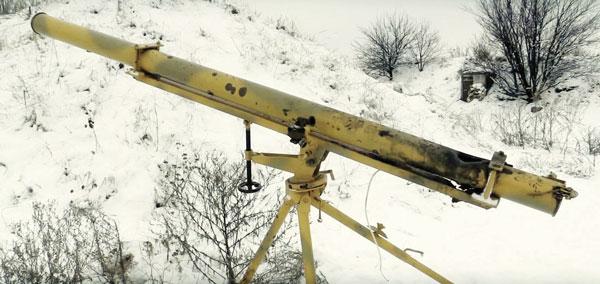 Трофейный ДНРовский «Град-П»: труба из пакета БМ-21 «Град», самодельная тренога и… минометный прицел МПМ-44М