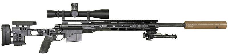 M2010, новая снайперская винтовка армии США, представляет собой Remington 700 LA в ложе производства Cadex Defence