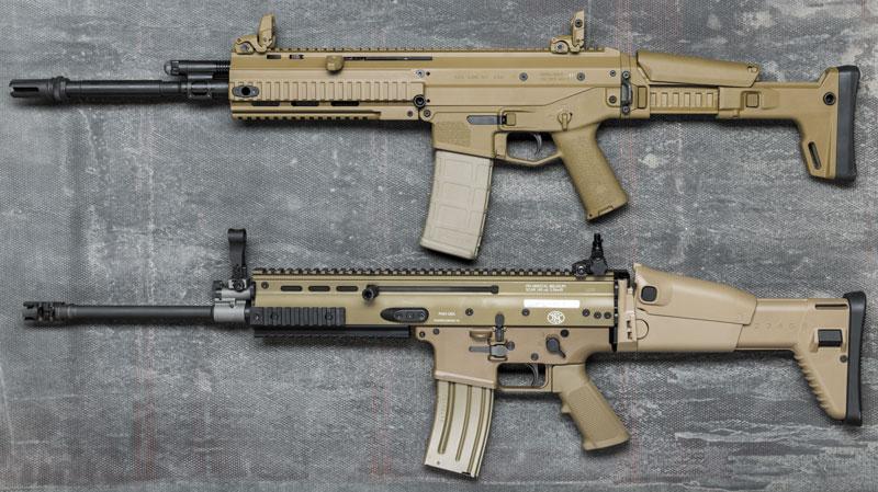 Bushmaster ACR (вверху) и FN SCAR — то ли братья, то ли нет