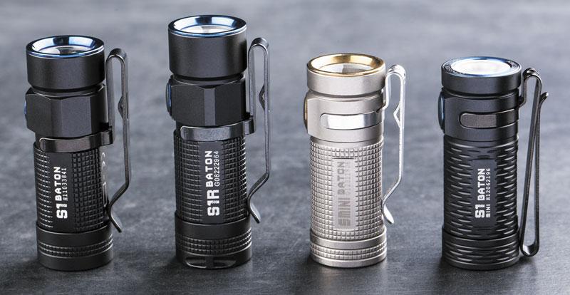 Сверхкомпактная линейка S отOlight (слева направо): S1, S1R, S-Mini Titanium, S1 Mini HCRI