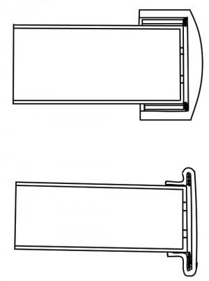 Рисунок гильз с кольцевым воспламенением Жозефа-Александра Робера из патента №6365 от 13июня 1835 г.