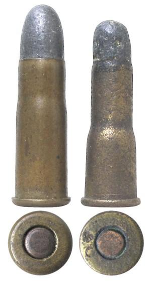 Винтовочные патроны .295 Rook и.297/230 Morris Long, иногда применявшиеся для тренировочных стрельб вревольверах с вкладным стволом