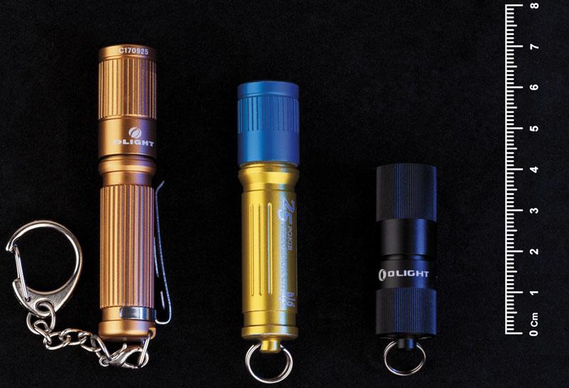 Эволюция «наключников» Olight (слева направо): I3S, I3E, I1R