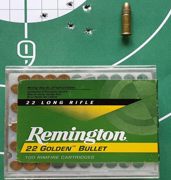Remington Golden Bullet не отличаются высокой кучностью, но обладают сверхзвуковой начальной скоростью