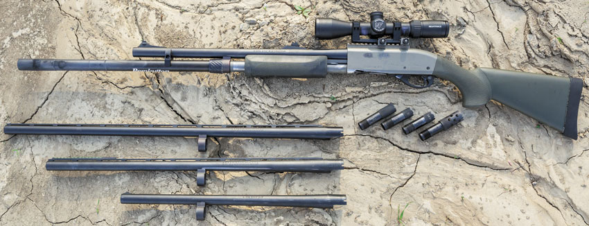 набор юного испытателя Remington 870: с прошлого раза добавились оптический прицел иеще одно дульное сужение