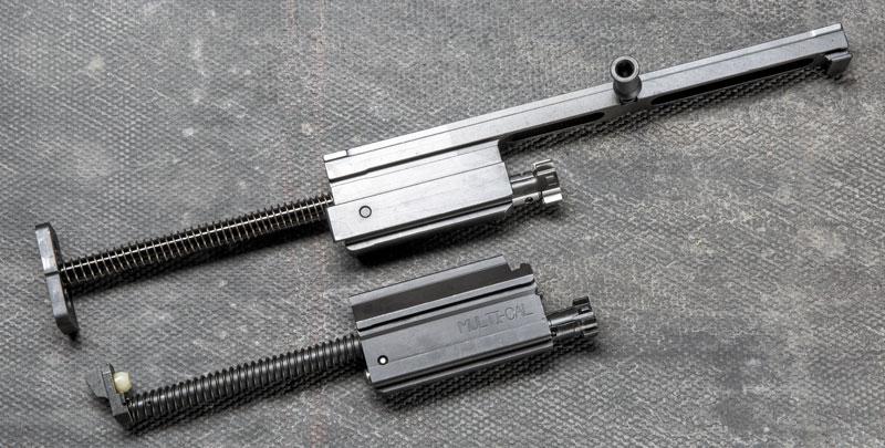 Затворные рамы SCAR (вверху) и ACR