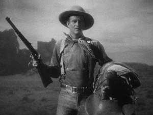 Легенда классических вестернов Джон Уэйн (кадр из фильма «Дилижанс»)