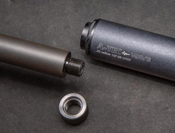 """Дульная резьба 1/2-28"""" на матчевых стволах B22 FV-SR позволяет установить на оружие доступный и очень эффективный модератор A-Tec Wave"""