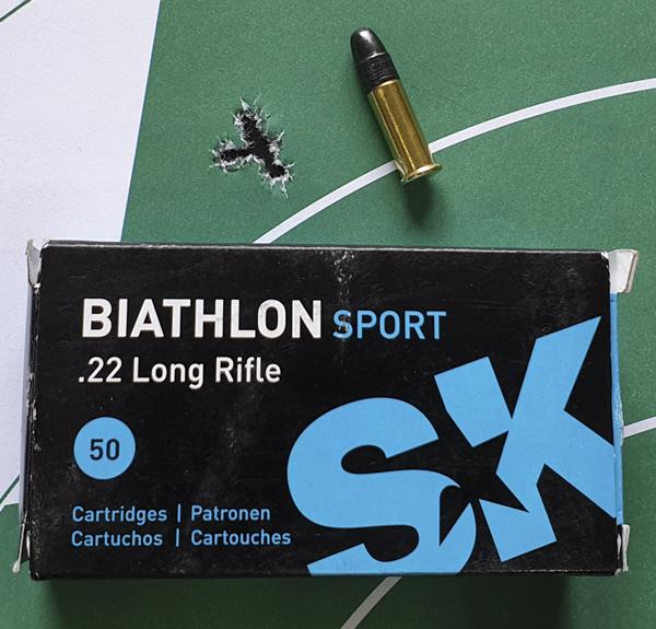 Патрон SK Biathlon Sport при стрельбе на 50 м из Savage B22 FV-SR показал лучшую кучность