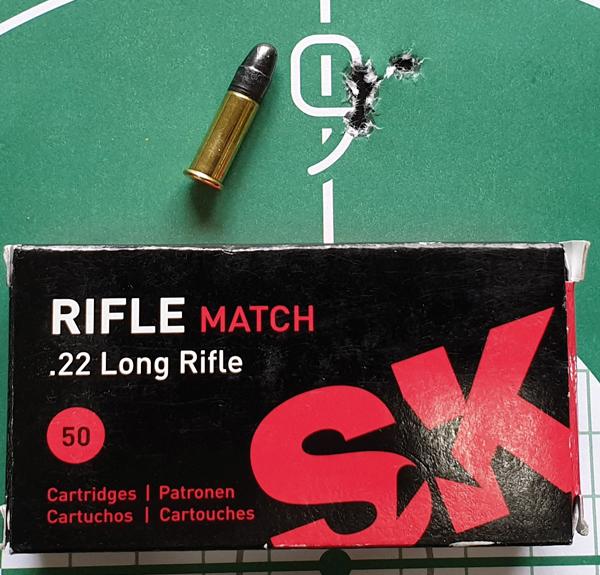 SK Rifle Match в винтовке Mark II BSEV тоже могут быть очень кучными на 50 м