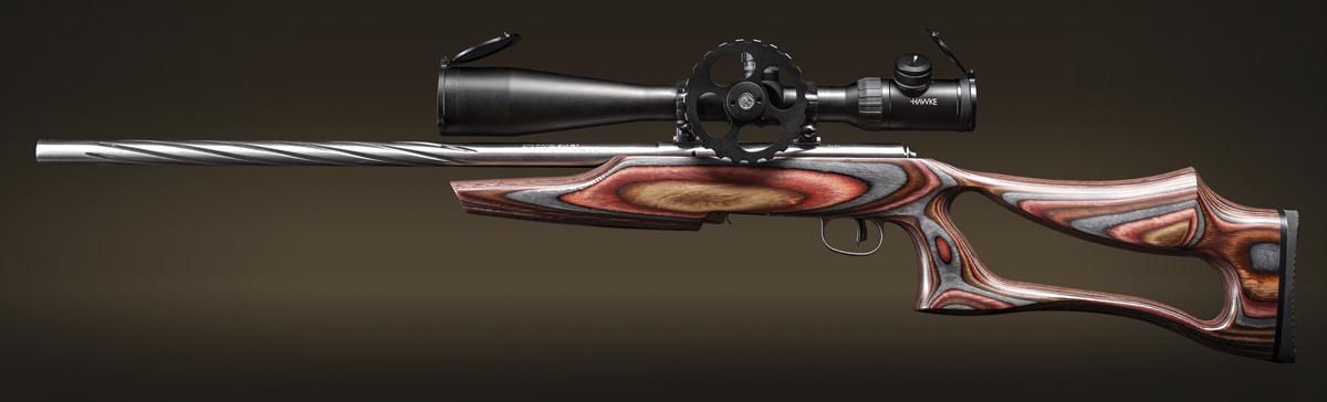 С оптическим прицелом Hawke Airmax 30 SF 8-32х50 винтовка Savage Mark II BSEV отлично подойдет для тренировки стрельбы из неустойчивых положений, а также для спортивных дисциплин FT/HFT